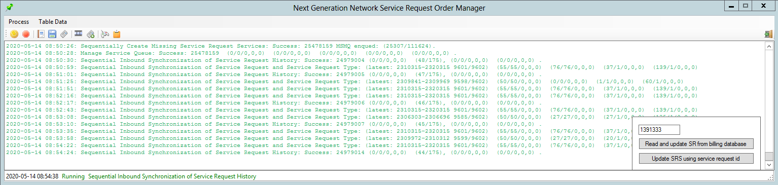 Customer Server Request Order's Manager Application